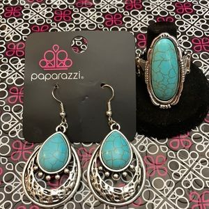Matching earrings and ring